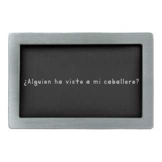 Spanish-Knight Rectangular Belt Buckle