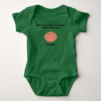 Spanish Language Cute Crying Baby Bodysuit