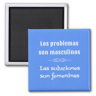 Spanish language learning grammar quote blue square magnet