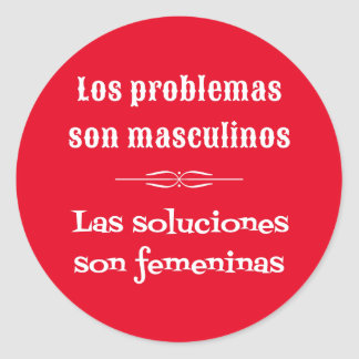 Spanish language learning grammar quote red classic round sticker