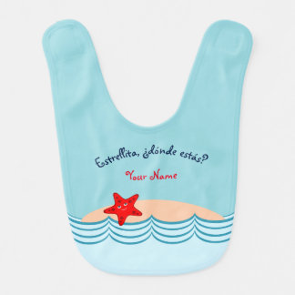 "Spanish Language Starfish ""Little Star"" Bib"