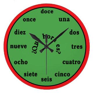Spanish Language Wall Clock