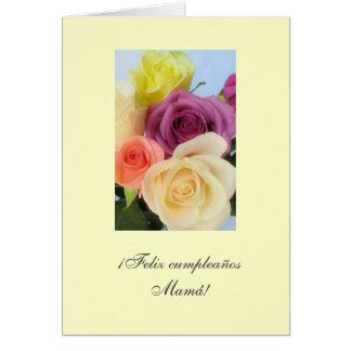 Spanish: Mami- Cumpleanos / Mom's birthday Greeting Card