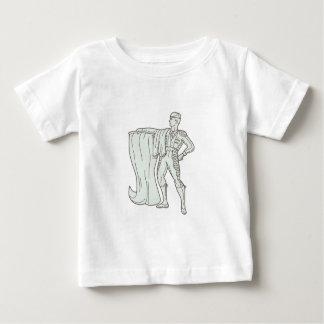 Spanish Matador Cape Standing Mono Line Baby T-Shirt