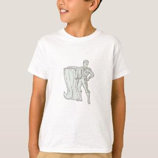 Spanish Matador Cape Standing Mono Line T-Shirt