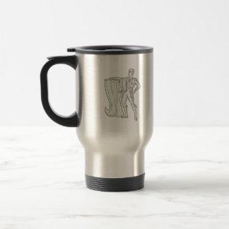 Spanish Matador Cape Standing Mono Line Travel Mug