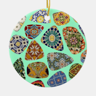 Spanish & Mexican Tile Mosaic Ceramic Ornament