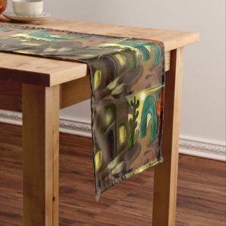 Spanish Mission Southwest Abstract Art Medium Table Runner