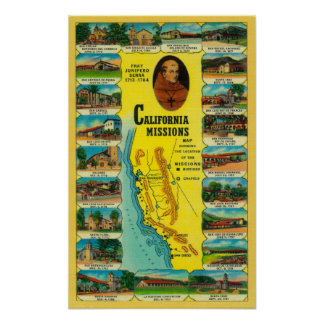 Spanish Missions of California showing Poster