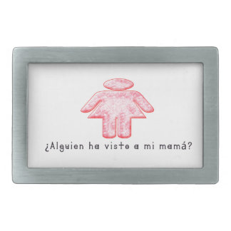 Spanish-Momma Rectangular Belt Buckles