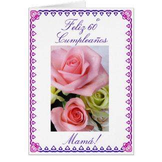 Spanish: Mom's 60th Birthday Greeting Card