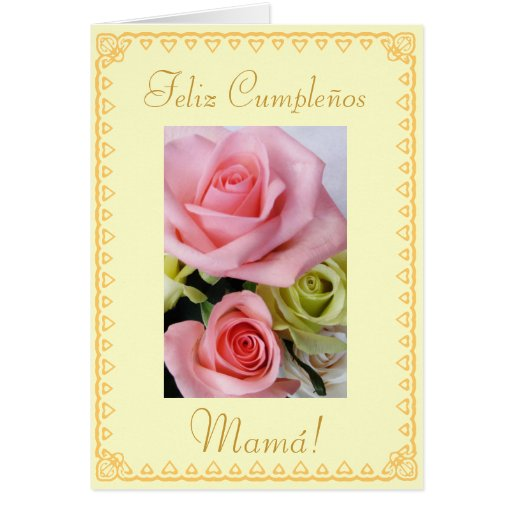 Birthday Cards For Mom In Spanish Birthday Card Ideas