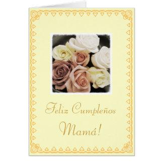 Spanish: Mom's birthday Cumpleanos / Mama Greeting Card