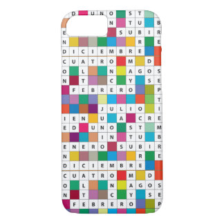 Spanish Months Crossword iPhone7 Barely There Case