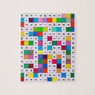 Spanish Months Design Jigsaw Puzzle