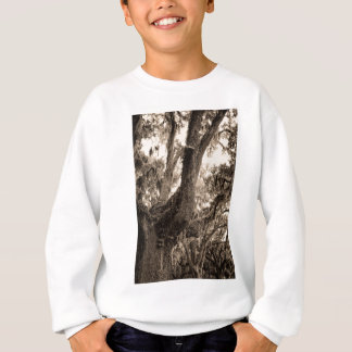 Spanish Moss Adorned Live Oak In Sepia Tones Sweatshirt