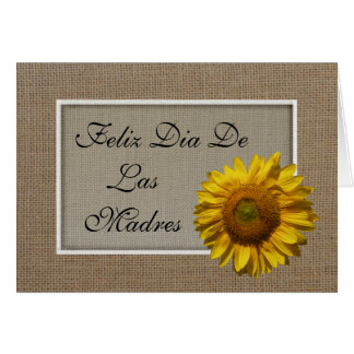 Spanish Mothers Day Card - Sunflower