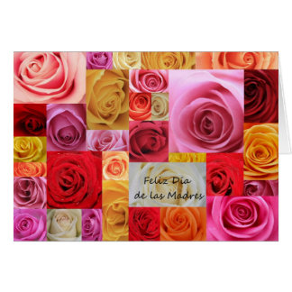 Spanish Mother's day patchwork roses Card