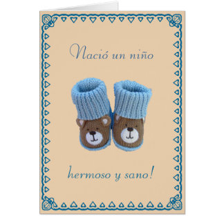 Spanish: Nacio un nino! Birth of baby boy Card