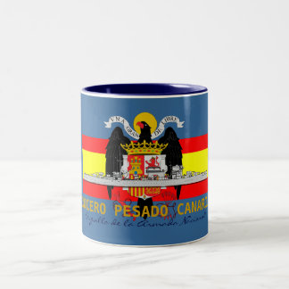 "SPANISH NAVY HEAVY CRUISER ""CANARIAS"" Two-Tone COFFEE MUG"