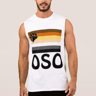 Spanish (Oso)  Gay Bear Pride Flag Sleeveless Shirt
