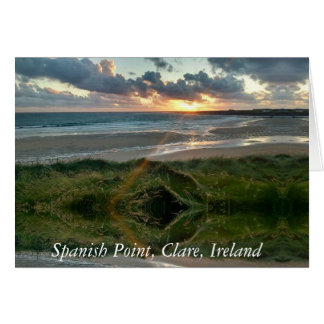 Spanish Point, Clare, Ireland Card