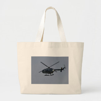 Spanish Police Helicopter Large Tote Bag