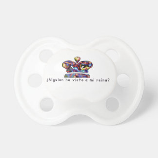 Spanish-Queen Baby Pacifiers