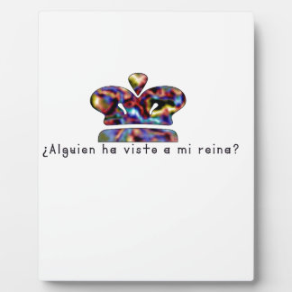 Spanish-Queen Plaque