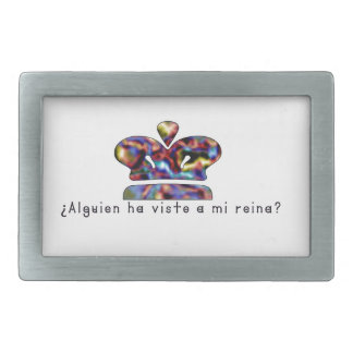 Spanish-Queen Rectangular Belt Buckle