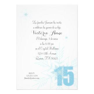 spanish quince FROZEN WINTER SNOWFLAKE invitation