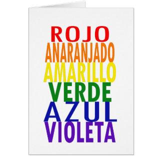 Spanish Rainbow Colors Card