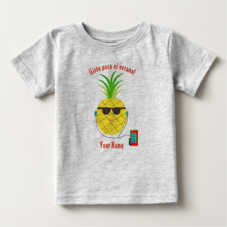 "Spanish ""Ready for Summer"" T-Shirt with Pineapple"