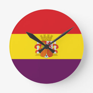 Spanish Republican Flag - Bandera República España Clocks