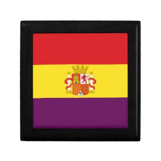 Spanish Republican Flag - Bandera República España Keepsake Box
