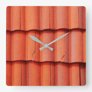 Spanish Roof Tiles Square Wall Clock