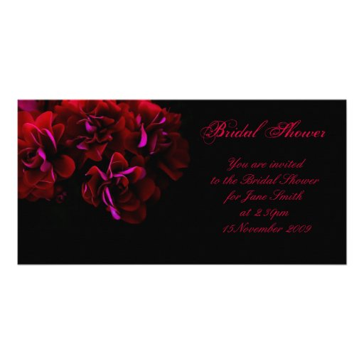 Spanish Rose - Bridal Shower/Wedding Invitation Photo Card Template