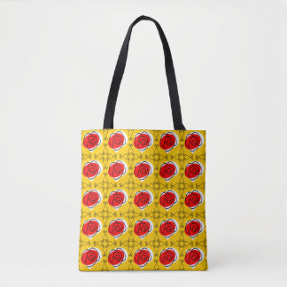 Spanish Rose Corners Multi all over tote