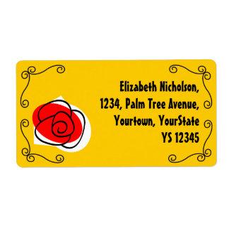 Spanish Rose Corners shipping label