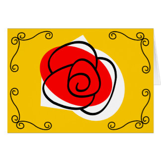 Spanish Rose Corners Text landscape Card