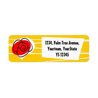 Spanish Rose return address label