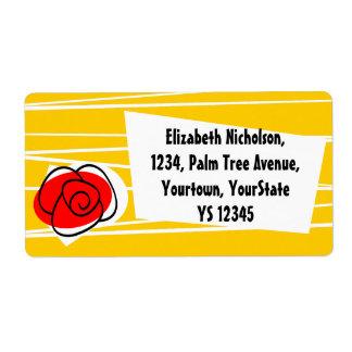 Spanish Rose shipping label
