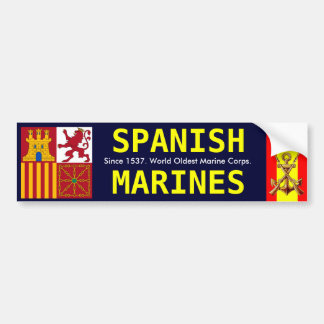 SPANISH ROYAL MARINES BUMPER STICKER