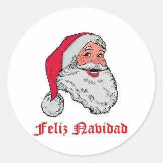 Spanish Santa Claus Classic Round Sticker