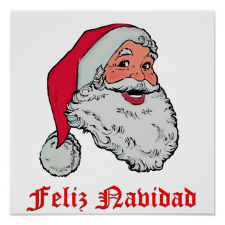 Spanish Santa Claus Poster