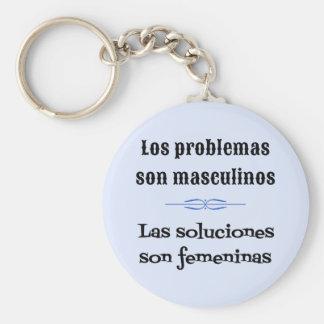 Spanish saying language learning basic round button keychain
