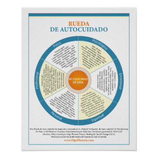 Spanish Self-Care Wheel Poster