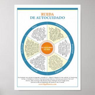 Spanish Self-Care Wheel Poster