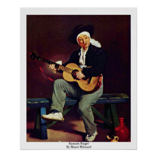 Spanish Singer By Manet Edouard Poster