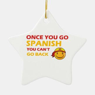 Spanish smiley designs ceramic ornament